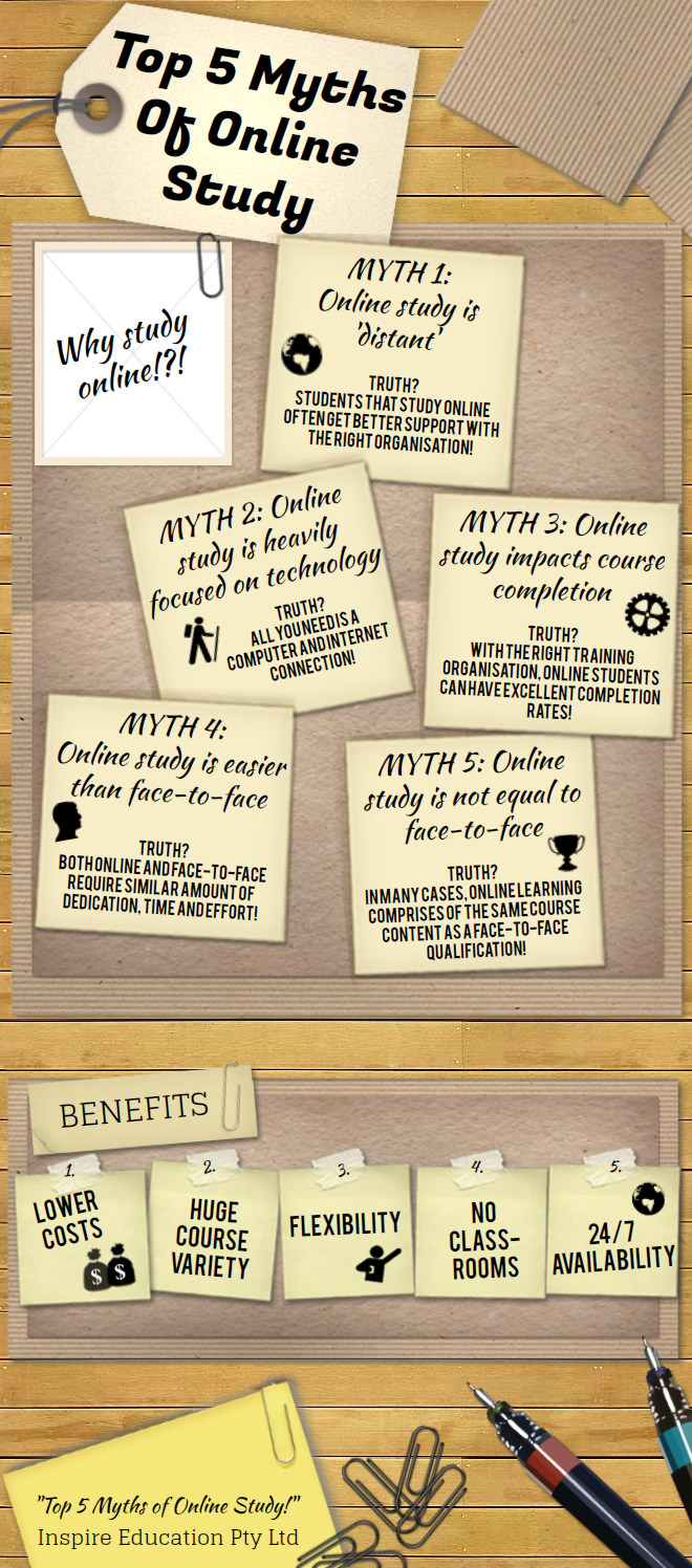 Online Study Myths and Misconceptions Busted [INFOGRAPHIC]