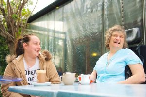 disability care worker with her patient