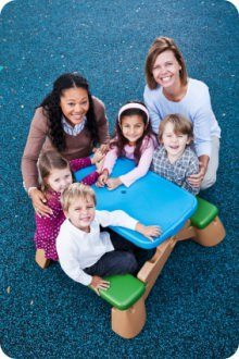 Responsibilities of Child Care workers include teaching social skills and preparing food